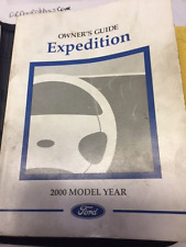 2000 FORD EXPEDITION OWNERS MANUAL WITH CASE