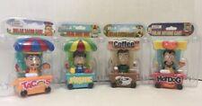 Bobblehead Toys-Solar-Dancing - Lot of (4)-TACO, HOTDOG, COFFEE & FRUIT CARTS