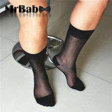 1Pair Men's Japanese Silk Sheer Super Thin Summer Sexy Dress Suit Formal Socks