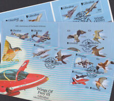 Gibraltar 1999-2001 FDC 3 Covers Wings of Prey Royal Air Force RAF Falcon Merlin