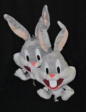 Lot 2 peluche doudou bugs bunny LOONEY TUNES WARNER gris 23/37 cm assis TTBE