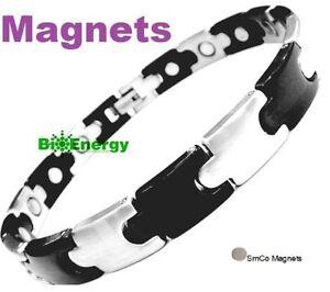 Magnet Magnetic TITANIUM Steel Energy Power Bracelet Health Bio Men's Male