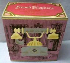Vintage AVON French Telephone Moonwind Foaming Bath Oil Perfume Glass