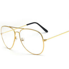 Unisex Clear Lens Glasses Fashion Vintage Men Women Big Round Sunglasses Geek