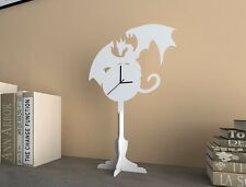 White Dragon - Silhouette Table Clock