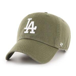 Los Angeles Dodgers 47 Brand Sandalwood Green Clean Up Adjustable Hat Dad Cap