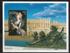 Chad 2001 Versailles Castle  Marie Antoinette Imperf. S.S. MNH