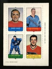 1969 1969-70 OPC O-PEE-CHEE~4 IN 1 (FOUR IN ONE)~TIM HORTON, BERNIE PARENT+