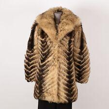 Women's Winter Warm Sheep Skin Coat Size XS Brown