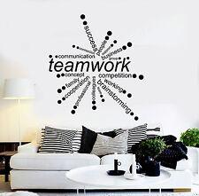 Vinyl Wall Decal Teamwork Words Office Decor Business Stickers (ig4342)