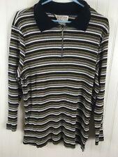 Carolina Colours Women's Plus Size 1X Striped Pullover Blouse Shirt x74