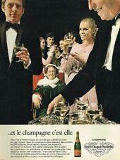 H- Publicité Advertising 1970 Champagne Veuve Cliquot Nicole Barbe