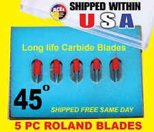 5x45° HIGH QUALITY ROLAND VINYL CUTTER PLOTTER BLADES Fast shipping