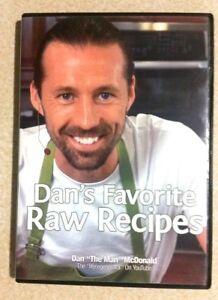 DAN MCDONALD Dan's Favorite Raw Recipes (DVD, 2011) 10 MIN MEALS/RAW DIET/ US R1