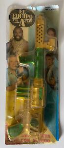 Rare 1980s The A-Team Mr. T Space Machine Gun W/ Sound MOC Spain KO