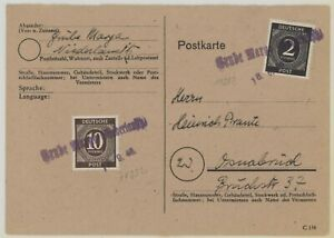 Germany 1946-47 Allied Occupation 13 interesting covers inc censored, overseas.