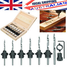 22Pc Tapered Drill & Countersink Bit Screw Set Wood Pilot Hole For Wood in AU