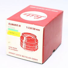 ERNST LEITZ LEICA ELMARIT-R 28MM F/2.8 LENS BOX ONLY