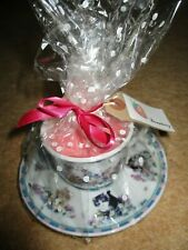 Strawberry Scented Teacup Candle  Cats kittens tea cup