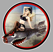 PINUP BOMB NOSE ART WW2 DUB VW COX 9cmX9cm AUTOCOLLANT/STICKER AUTO MOTO PC045