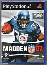 PS2 Madden NFL 07, Reino Unido PAL, totalmente nuevo y sellado de fábrica Sony