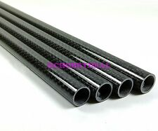4PC 12MM OD X 10MM ID X 500MM Carbon fiber wing tube arm for Quadcopter multi
