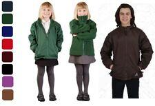 Boys Girls Fleece Reversible Jacket Winter Warm School Uniform Waterproof