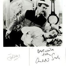 Fawlty Towers - John Cleese 'Basil' & Andrew Sachs 'Manuel' Hand Signed Cards.