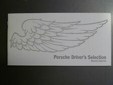 2013 Porsche Driver's Selection Showroom Sales Brochure UNSUSUAL Awesome L@@K