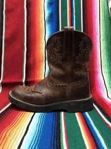 Ariat Fatbaby cowboy work boots .. round toe .. Women's 7 1/2 B