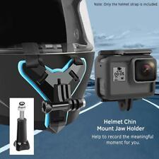 Helmet Chin Mount, Motorcycle Helmet Strap for GoPro Hero (2018), Hero 7, 6 , 5