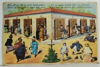 Humor Toilette Bathrooms Mechanical Doors People in Restrooms Postcard N12