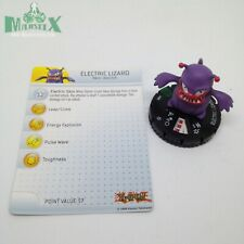 Heroclix Yu-Gi-Oh! Series 2 set Electric Lizard #009 Uncommon figure w/card!