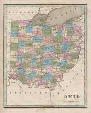1846 Bradford Map of Ohio