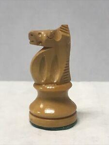 "Vintage Replacement Chess Piece Knight Wooden Felt Bottom 1 3/4"""