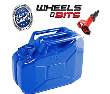 10L Litre BLUE JERRY MILITARY CAN FUEL PETROL DIESEL RED blue GREEN WITH SPOUT