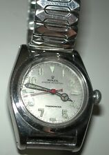 ROLEX MEN'S OYSTER PERPETUAL CHRONOMETER BUBBLE BACK WRIST WATCH, 1940'S