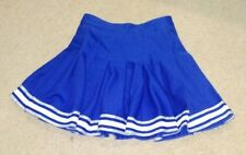 Real Authentic CDT Cheerleading Uniform Pleated Cheer Skirt Blue White Silver