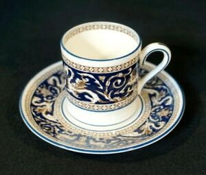 Beautiful Wedgwood Florentine Dark Blue Demitasse And Saucer