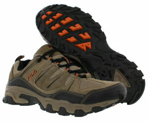Fila Men's Outdoor Hiking Trail Running Athletic Shoes Brown/Orange 9 NEW