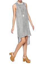 NEW CLOTH & STONE SzM SLEEVELESS HI-LOW THANK DRESS TYE DYE GREY