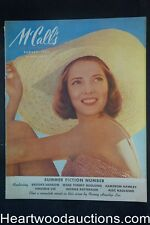 McCall's Aug 1944 Andrew Loomis Art, Avon ad salutes female Marine, Chesterfield
