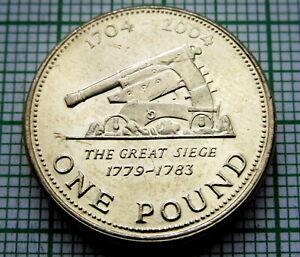 GIBRALTAR 2004 POUND, THE GREAT SIEGE, 300 yrs UNDER BRITISH RULE, UNC