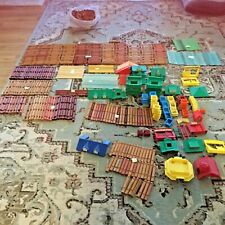 Mixed Lot Lincoln Logs 1700 pieces wood, plastic windows, doors, buildings