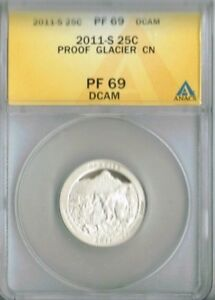 2011-S Proof Glacier National Park ANACS Authenticated PF 69