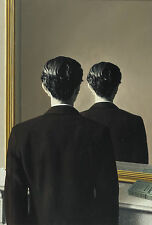 Framed Print - René Magritte Not to be Reproduced (Picture Surrealism Replica)