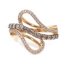 LeVian 14K Strawberry Rose Gold 0.75ct White Chocolate Diamond Ring Size 7.5