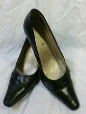 Black Italian leather court  shoes worn  - Size EU 40