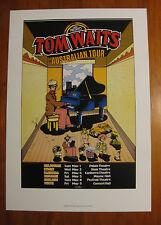 TOM WAITS POSTER AUSTRALIAN TOUR 1978   not cd vinyl shirt