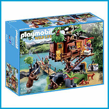 NEW PLAYMOBIL WILD LIFE ADVENTURE ISLAND TREE HOUSE LARGE PLAY SET 5557